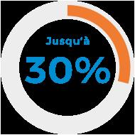 Jusqu'à 30%