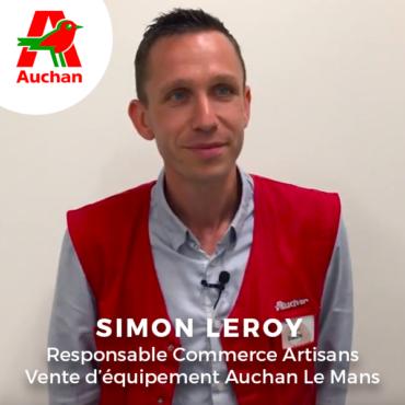 Simon Leroy, Responsable Commerce Artisans Vente d'équipement Auchan Le Mans