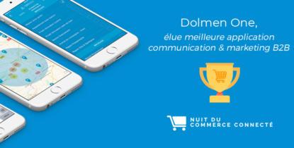 Dolmen One, élue meilleure application marketing & communication B2B à la Nuit du Commerce Connecté 2017 !