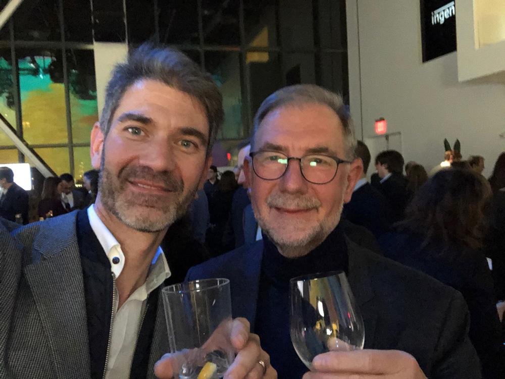 Selfie du président de Dolmen David Godest avec le directeur de la DSI Auchan Xavier Prevost