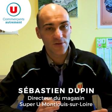 Sébastien Dupin, directeur du magasin super U montlouis sur loire