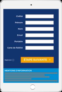 Les formulaires de la plate-forme sont respectueux du parcours de l'utilisateur et sont en conformité avec le RGPD : mentions légales, opt-in