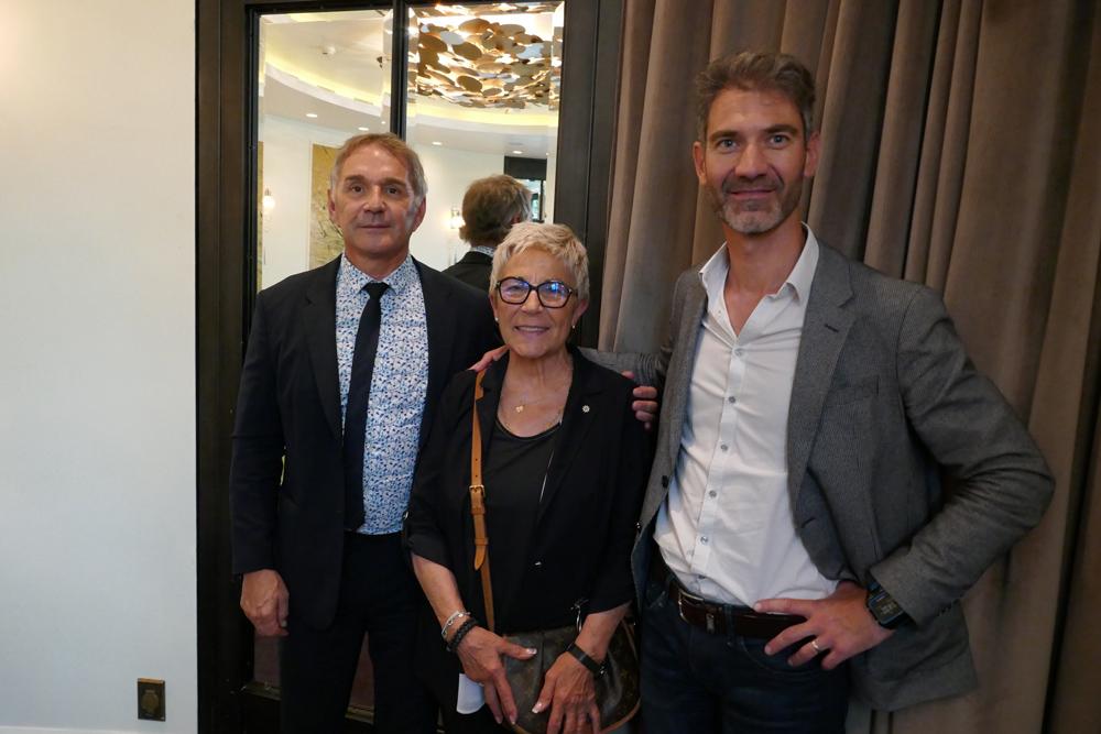 David Godest aux côtés de Monique Rubin et Patrick Vignal