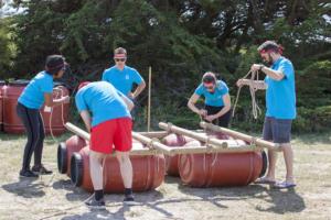 activité dolmen construction radeau