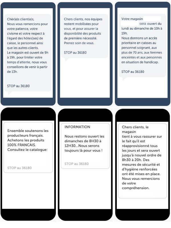 Exemples de SMS