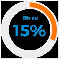 Bis zu 15%