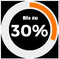 Bis zu 30%