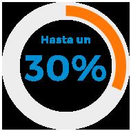 Hasta un 30%